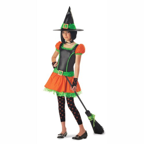 California Costume Collection - Sassy Pumpkin Witch Tween Costume