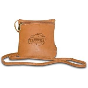 NBA Los Angeles Clippers Tan Leather Ladies Mini Handbag by Pangea Brands