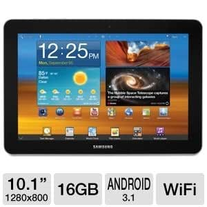 "Samsung 10.1"" 16GB Android 3.1 Tablet"