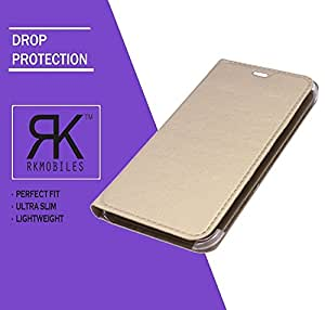 Intex Aqua Ace Mini Leather Flip Case Cover - Golden (For Intex Aqua Ace Mini)
