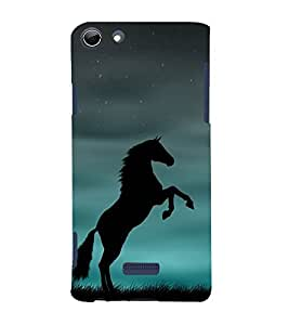 Shadow Jumping Horse 3D Hard Polycarbonate Designer Back Case Cover for Micromax Canvas Selfie 3 Q348