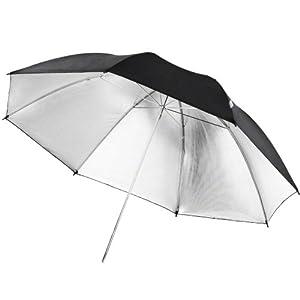 Parapluie walimex pro reflex noir/argent, 109cm