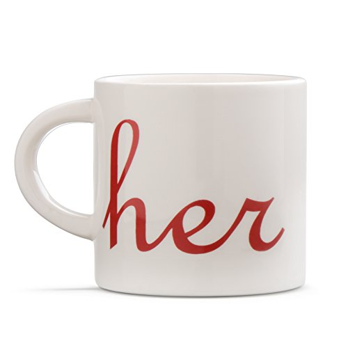 Decodyne His and Her Coffee Mug Set - Ceramic Mugs for Men & Women - Great Gifts for Couples for Weddings, Engagements, Anniversaries, Christmas & Other Occasions