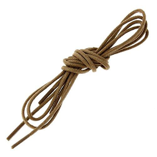 Die Schnürsenkel Französisch-Schnürsenkel rund Baumwolle gewachst Farbe Kamel, Braun - Braun - braun - Größe: 70