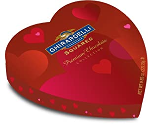 Ghirardelli Valentine's Chocolate Squares, Premium Chocolate Assortment, 9.85-Ounce Heart Boxes (Pack of 2)