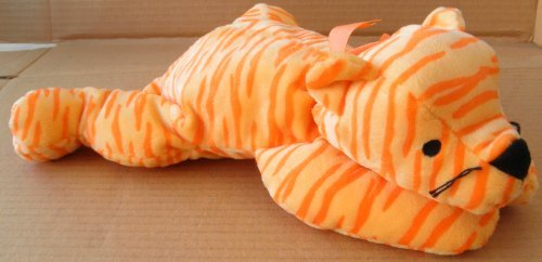 TY Pillow Pals Purr the Tiger Plush Toy Stuffed Animal - Orange - 1