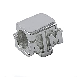 NCAA Texas A&M Aggies Sterling Silver Logo Charm Bead