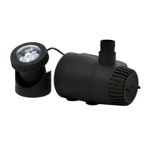 TotalPond MD11400ASL 400 GPH Fountain Pump with Low Water Shut-Off and Light