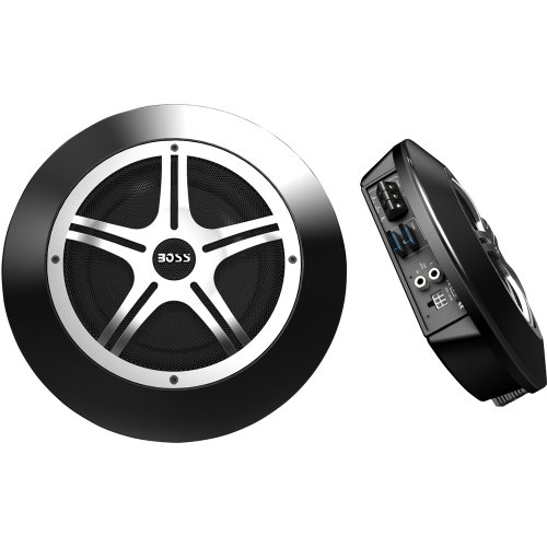 Boss Audio Systems Rs80 800-Watt 8-Inch Low Profile Amplified Subwoofer With Remote Level Control