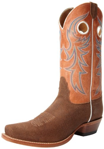 Nocona Boots Men's Salmon Cow Boot,Brown Wood,7.5 D US