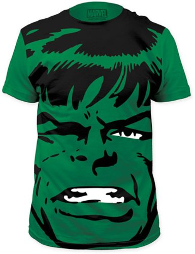 The Incredible Hulk Big Face Marvel Comics Superhero Adult T-shirt Tee Picture