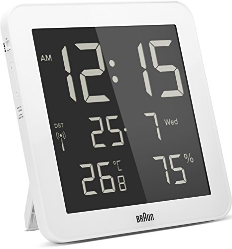 Braun Digital Global Radio Controlled Wall/Desk Clock White