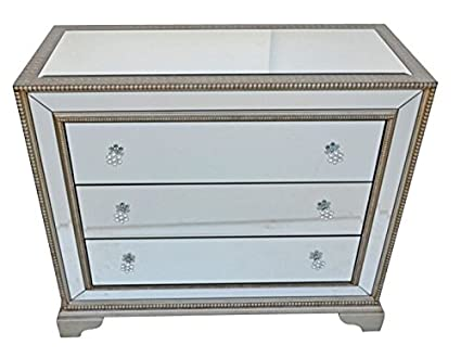 Mirrored Glass Art Deco Chest of Drawers