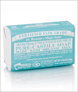 Dr. Bronner's Mild Aloe Baby Soap Bar Made with Organic Ingredients 5 oz.