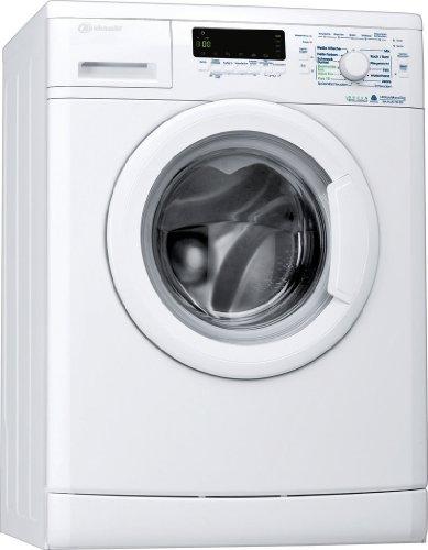 Bauknecht WA 744 BW Waschmaschine Frontlader / A+++ B / 1400 UpM / 7 kg / Weiß / Display /Big window / Vollwasserschutz  /unterbaufähig