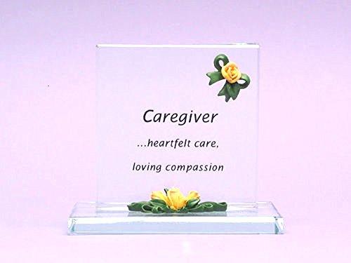 Sentimental Keepsake Gift for Personal Caregivers: Glass Tabletop Curio - Caregiver - Heartfelt Care, Loving Compassion