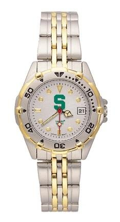 Michigan State Spartans Spartans All Star Watch with Stainless Steel Band - Ladies by Logo Art