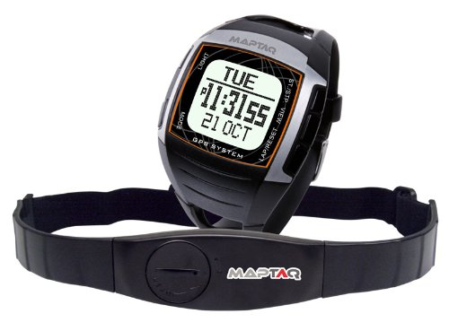 Maptaq Watch Neo GPS Watch/HRM - Black/Silver