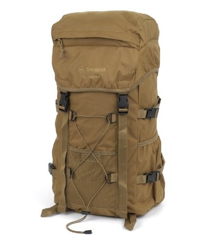 B005BN4S22 Snugpak Stamina Rucksack Coyote Brown Streamlined Multi-Purpose Single Chamber Wicking Fabrics