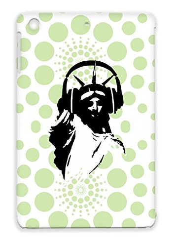 Lady Liberty With Headphone Close White Tpu Dj Headphone Earphone Party Club New York United States Of America Miscellaneous Music Lady Statue Liberty Amerika Usa Deejay Dee Jay For Ipad Mini Protective Case