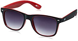 Buzz Wayfarer Unisex Sunglasses (1083-104/160|58|Black lens)