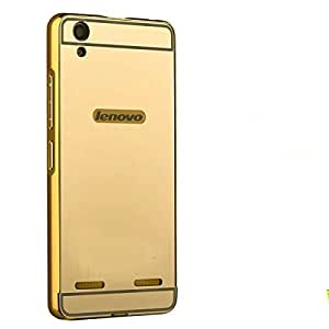 Novo Style Metal Bmper Frame Case with Acrylic Mirror Back Cover For lenovo A6000 - Golden
