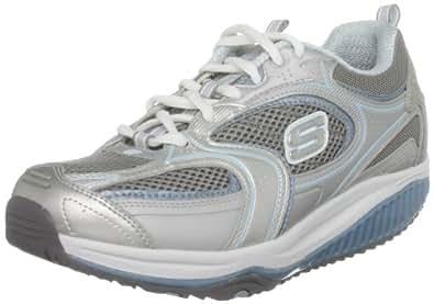 Skechers 12320 SLBL Shape-ups Xf Accelerators, Damen Sneaker, Silber (SLBL), EU 37.5