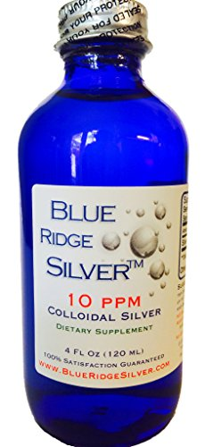 SALE 40% OFF!! - Blue Ridge Silver, 10 ppm 4 oz Glass Bottle Colloidal Silver