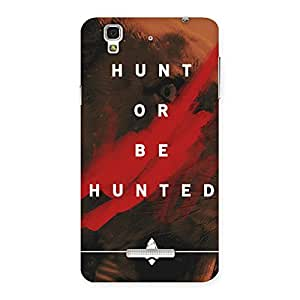 Delighted Hunted Multicolor Back Case Cover for YU Yureka Plus
