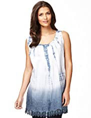 Indigo Collection Pure Cotton Tie Dye Tunic