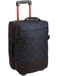Quiksilver Polyester 37 Ltrs Bp Cap Checks Black & Blue Travel Bag (EQYBL03017-KVJ7)