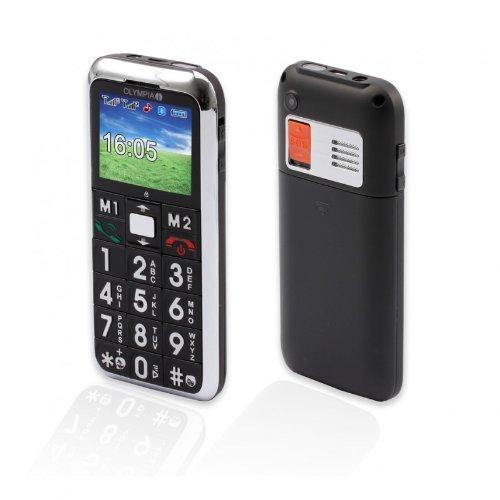 OLYMPIA Mobiltelefon CHIC mit großen Tasten und Farbdisplay schwarz