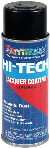 Seymour 16-806 Hi-Tech Lacquers Spray Paint, Dull Black