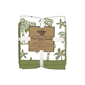 Kay dee designs palm trees flour sack towels Kay dee designs kitchen towels