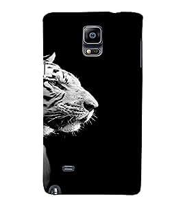 PrintVisa Animal Tiger Design 3D Hard Polycarbonate Designer Back Case Cover for Samsung Galaxy Note 4