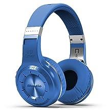 Bluedio H+(Turbine) Bluetooth Wireless Stereo Over-ear Earphone Headphone BT4.1 Micro-SD Music stringFM Radio with Microphone (Blue)
