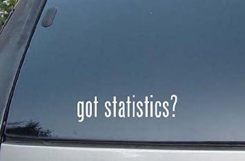 statistics decal car