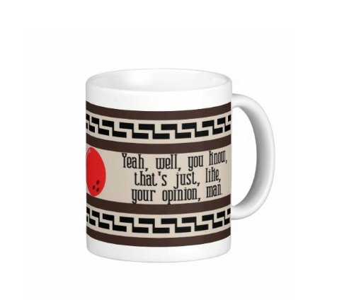 Pair Of Yeah, Well, You Know, That'S Just Like Your Opinion Man Funny Big Lebowski Dude Carpet 11 Ounce Coffee Mugs - Custom Coffee / Tea Cups - Dishwasher And Microwave Safe