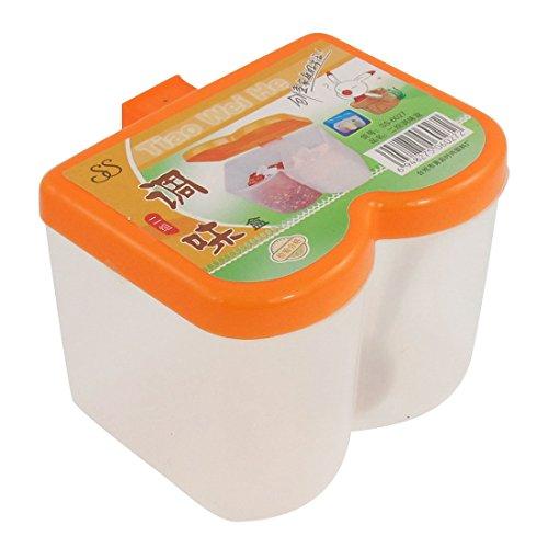 Plastic Lip Clair 2 Slots sauce au poivre sel épices Organizer orange