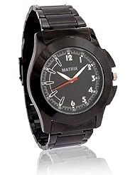 MATRIX Analog Black Dial Black Chain Men's Watch-WCH-ST-BK