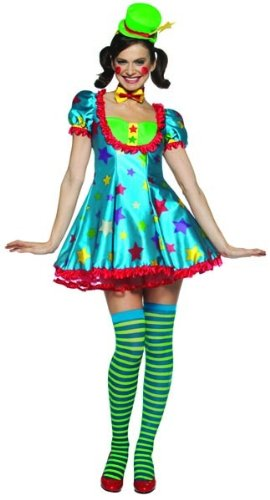 Star Clown Circus Girl Lady Female Costume Adult