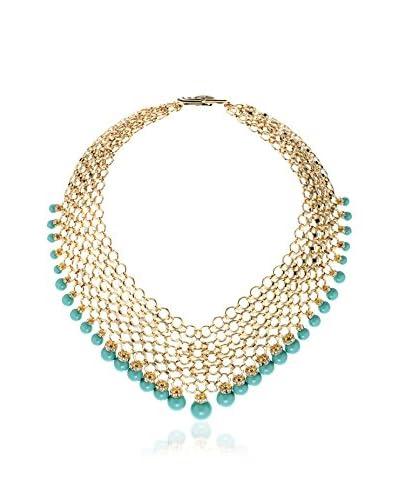 Melissa Kandiyoti Jewels Collar Studio 54 Verde / Metal Dorado