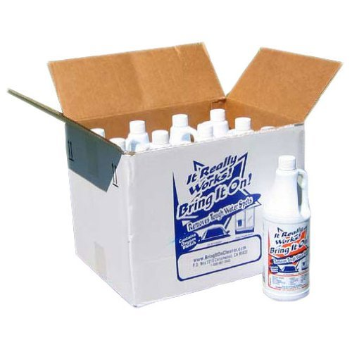 Bring It on Cleaner for Tough Water Stains 1 Case 32oz 12 Bottles (Bus Tub Metal compare prices)
