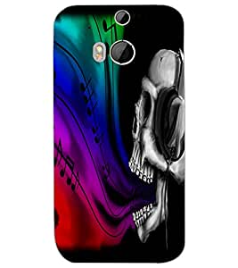 HTC ONE M8 EYE SKULL Back Cover by PRINTSWAG