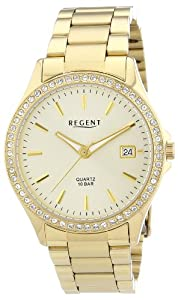 Regent Damen-Armbanduhr Analog Quarz Edelstahl beschichtet 12210880