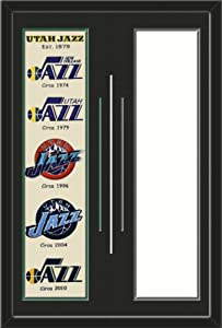Utah Jazz & Your Choice of other Team Heritage Banner Framed-House Divided-House... by Art and More, Davenport, IA