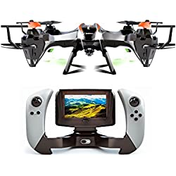 Udi U818S Large 6-Axis Gyroscope RC Quadcopter Drone Black Color with FPV Camera & WIFI-818 Real-Time FPV Remote Control with Extra Battery