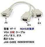 VGA分配ケーブル メス/オス×2