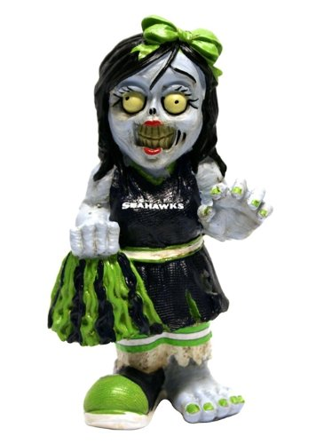 Seattle Seahawks Zombie Cheerleader Figurine at Amazon.com