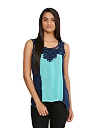Mayra Women's Georgette Top (1604T11408_M Green )
